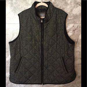 HAVEN 3XL Grey Black Zip Up Vest Quilted Jacket